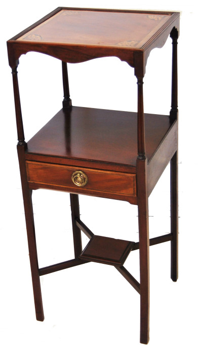 Mahogany Inlaid Two Tier Side Table