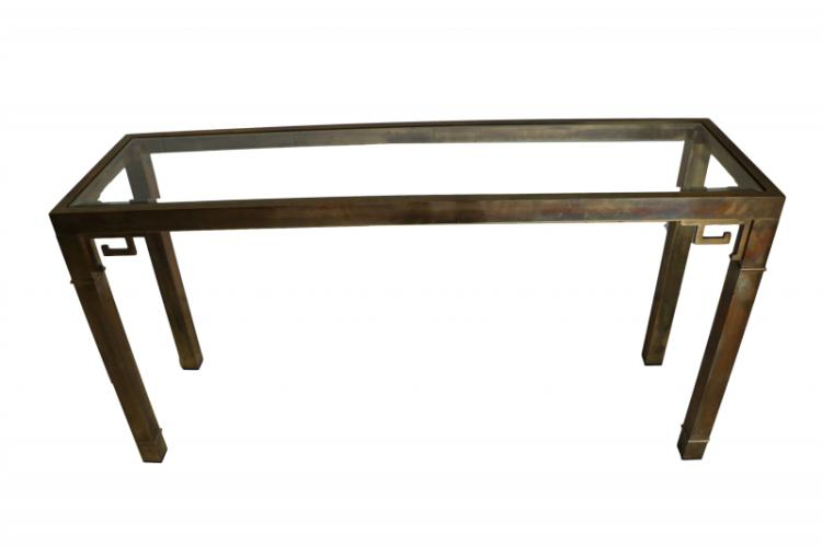 Mid Century brass console table