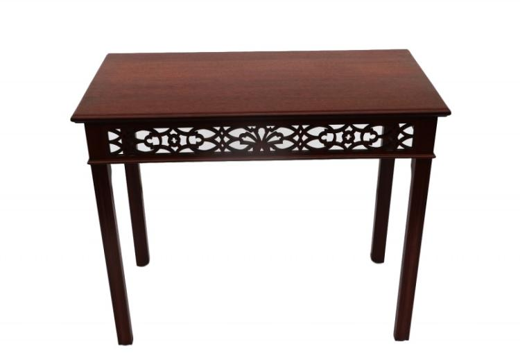 Chippendale Fretwork Console Table by Bartley