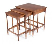 Vintage cherrywood Federal style Nesting tables