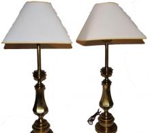 Vintage Matching Brass Stiffel table lamp