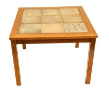 Danish Modern Teak Tile Side Table