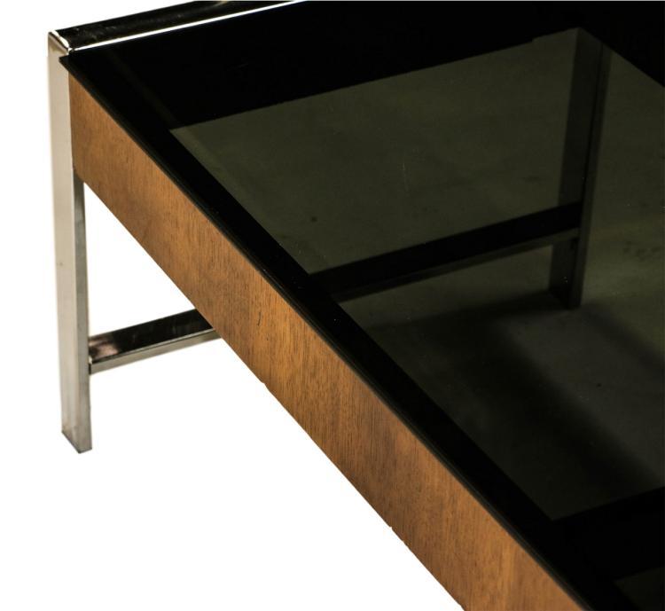 Mid Century Chrome Smoked Glass Coffee Table Milo Baughman S