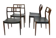 Danish Modern Rosewood Niels Moller #79 Dining Chairs