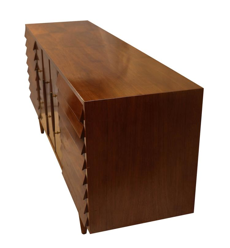 Sensational Mid Century Modern American Of Martinsville Dania Collection Louvered Walnut Credenza Cjindustries Chair Design For Home Cjindustriesco