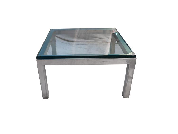 Fine Mid Century Modern Chrome Glass Coffee Table Milo Baughman Style Home Interior And Landscaping Oversignezvosmurscom