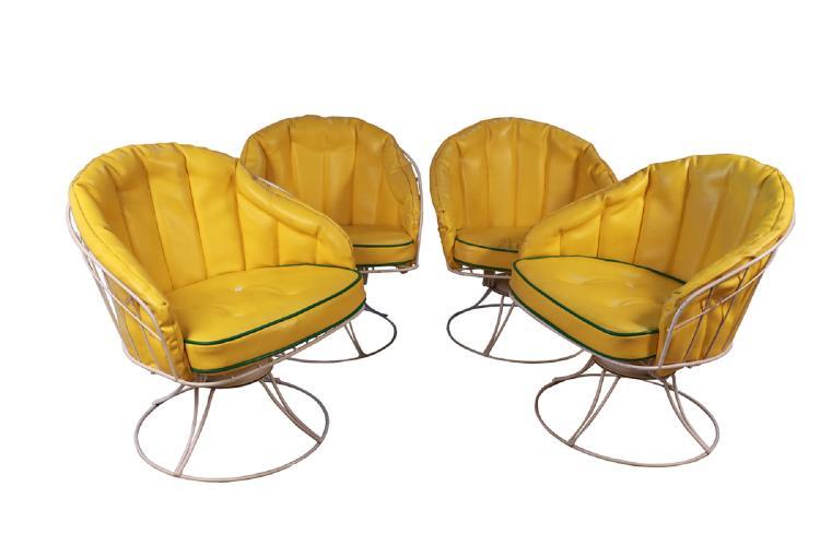 Peachy Four Vintage Mid Century Modern 1960S Homecrest Swivel Barrel Lounge Chairs Eames Era Evergreenethics Interior Chair Design Evergreenethicsorg