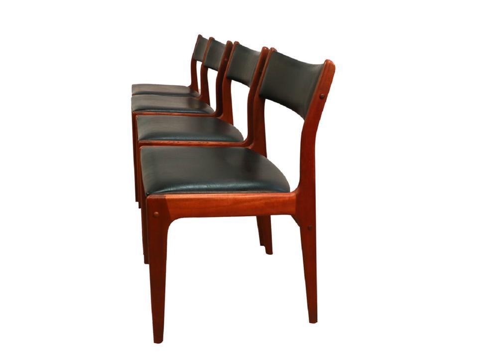 Johannes Andersen Uldum Mobelfabrik Danish Teak Dining Chairs