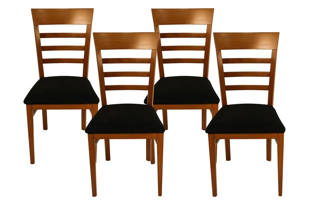 Four A. Sibau Italian Vintage Dining Room Chairs