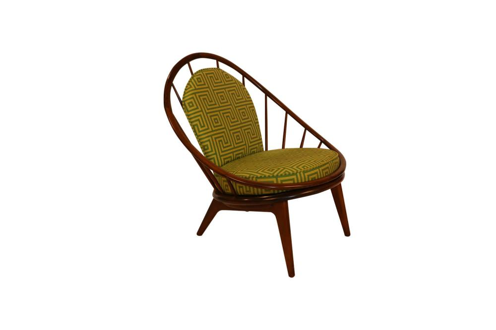 Surprising Mid Century Danish Hoop Style Chair With Spindle Back Ib Kofod Larsen For Selig Gmtry Best Dining Table And Chair Ideas Images Gmtryco