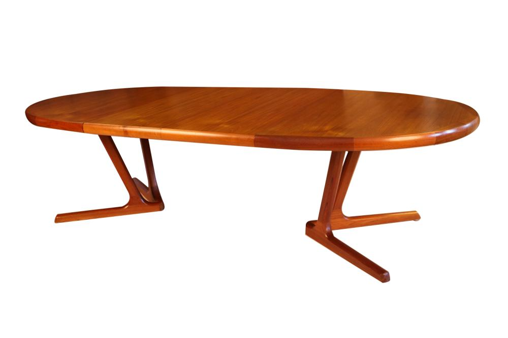 Mid Century Danish Modern Teak Extending Dining Table