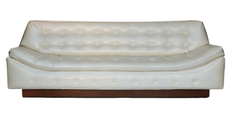 Impressive Milo Baughman Style Tufted Mid-Century Sofa