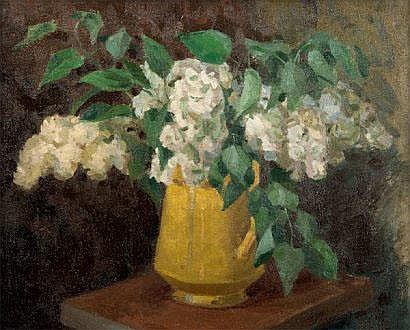 POUSTOCHKINE Basil (1893-1973) Vase de fleurs.