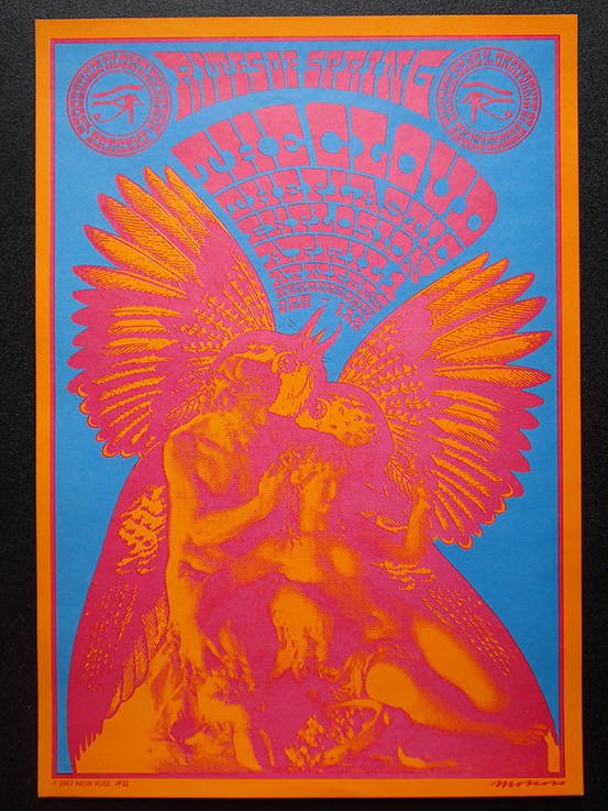 1967-NR-011-01 Victor Moscoso   Clouds Rites Of Spring Stockton Fillmore Neon Rose