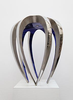 GUILLAUME PIÉCHAUD (né en 1968)   Console 'Araignée', 2009 En inox poli miroir et vernis bleu