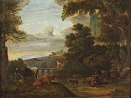 EDMOND DE PRATERE (1826-1888) Halte du troupeau