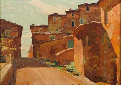 ALHAZIAN OHANNES (1881-1958) Rue de village Huile