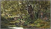 COCK CÉSAR de (1823-1904) Couple de promeneurs