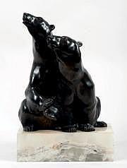 KELETY ALEXANDRE (mort en 1940) Deux ours polaire