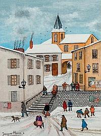 """HARA JACQUES (NÉ EN 1933) """"L'escalier du village"""""""