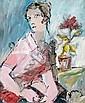 BONAMICI MARIO (NÉ EN 1912) Jeune femme à la rose, Mario Bonamici, Click for value