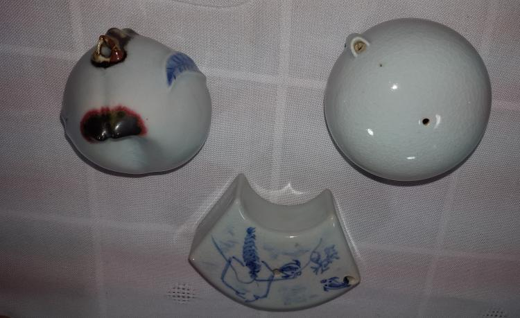 3 Korean Water Droppers crafted by Bowon Potteries in Korea