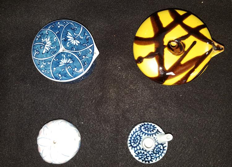 4 Japanese Arita-Ware Water Droppers