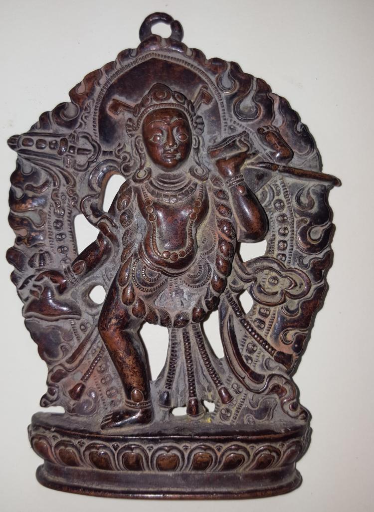 Tibet Vajrayogini Statue/Pendant Brass Dakini Rupa Nepal Goddess
