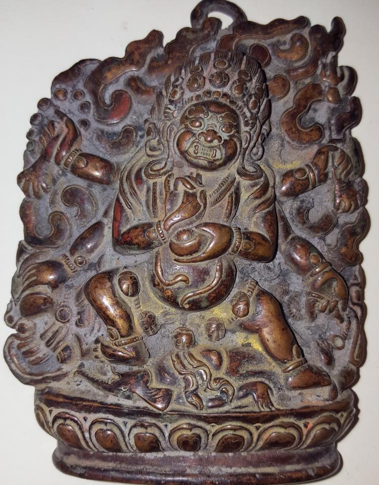 Tibet Bronze Deity Amulet