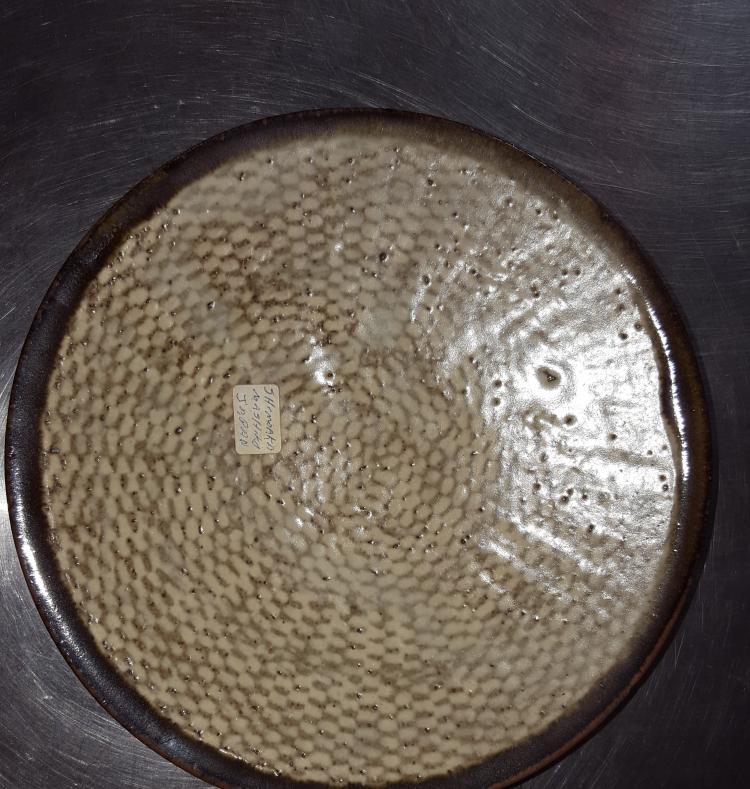 Japanese MASHIKO Pottery Ware Plate by TATSUZO SHIMAOKA