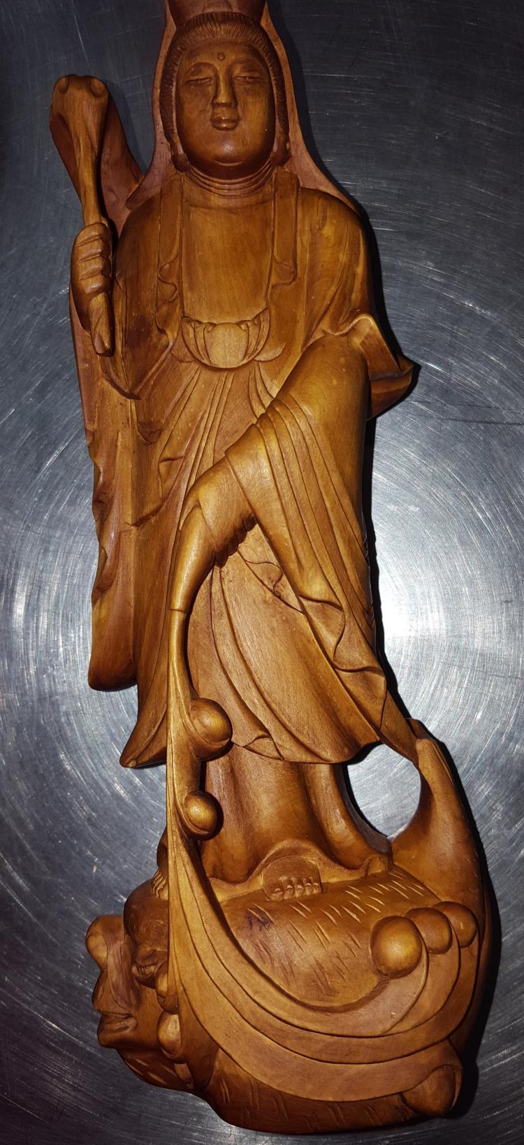 Carved Burl Wood Goddess