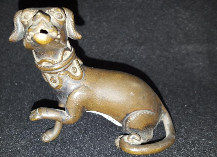 1880 Chinese Bronze Dog Water Dropper