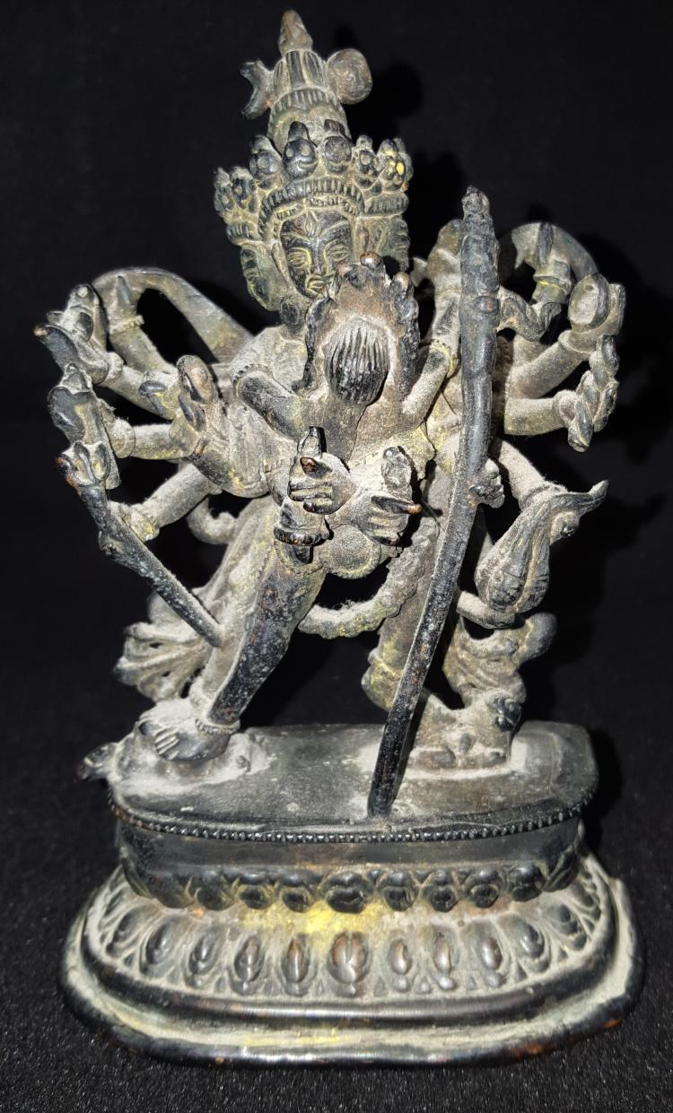 Late 19th or Early 20th Century Bronze Shiva Goddess