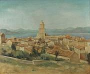 René DUREY (1890-1959) Vue de St Tropez 1933 Huile