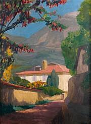 Jules FLANDRIN (1871-1947) Le chemin à l'ombre