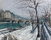Serge BELLONI (1925-2005) Quai de la Seine Huile