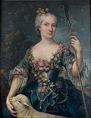 Attribué à Marianne LOIR (1715-1769) Portrait de