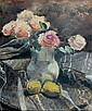 Henri de WAROQUIER (1881-1970) Bouquet de roses, Henry