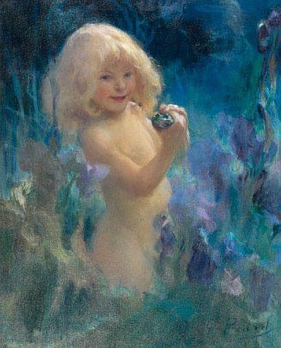 Georges PICARD (1857-1946), Petite fille à la