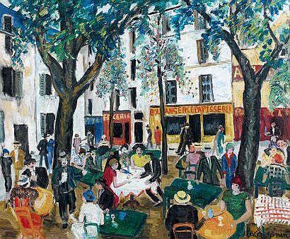 Lucien GENIN (1894-1953), Restaurant, Place du