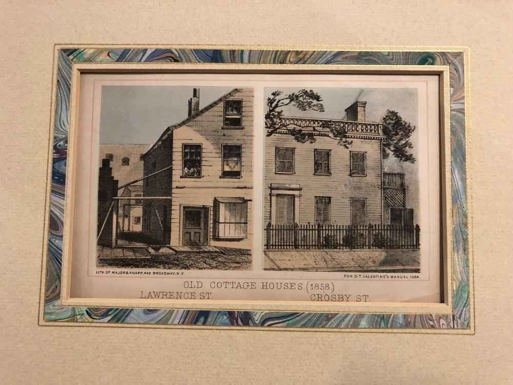 Lawrence and Crosby St ~ Old Cottage House, 1858 Valentine's Manuel
