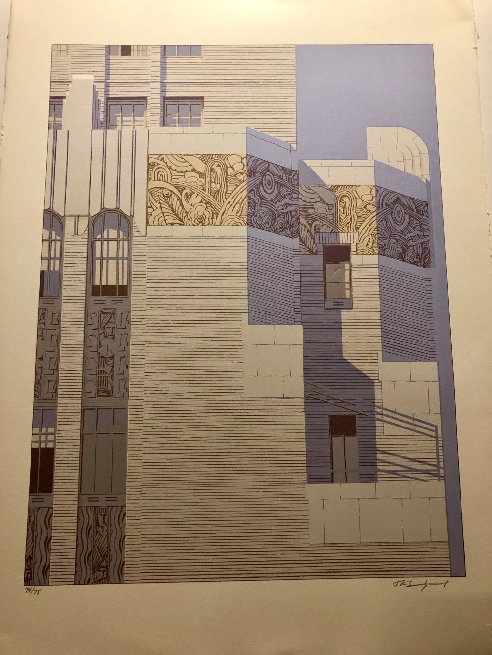 Exquisite print ~Barbizon Plaza ~Gotham IV  Midtown NYC serigraph JK sundquist