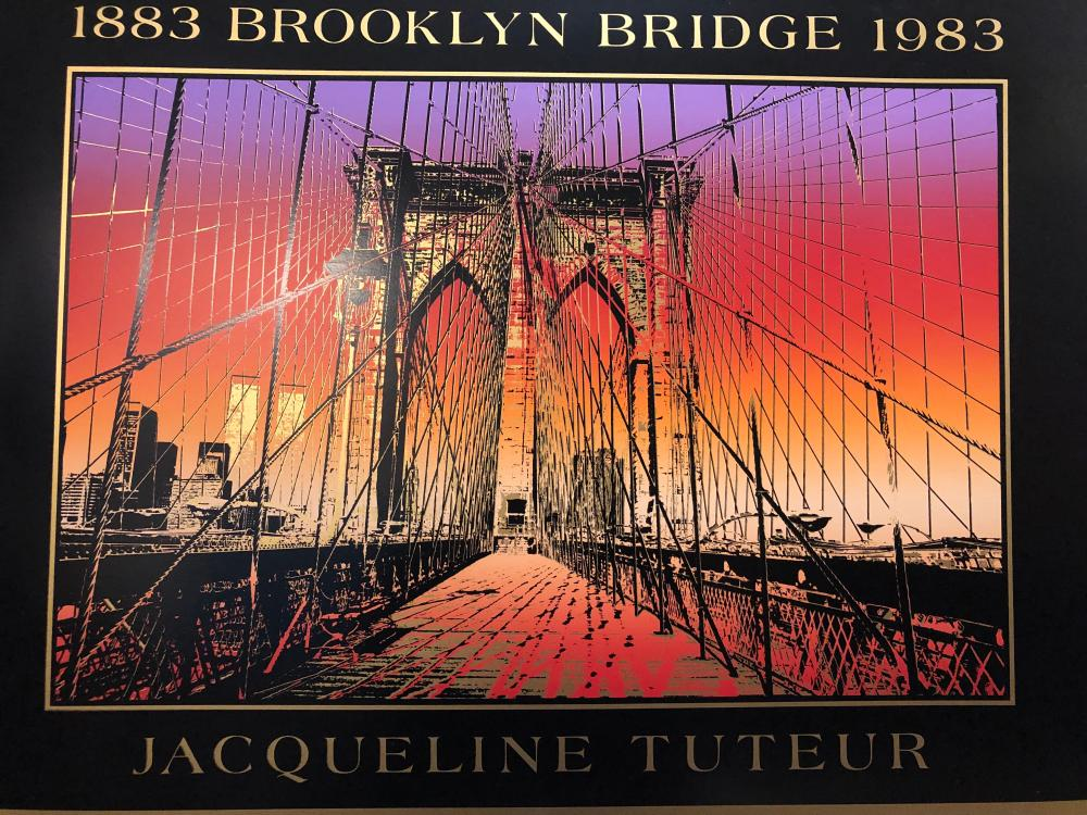 Brooklyn Bridge 100th anniversary Celebration Serigraph Poster