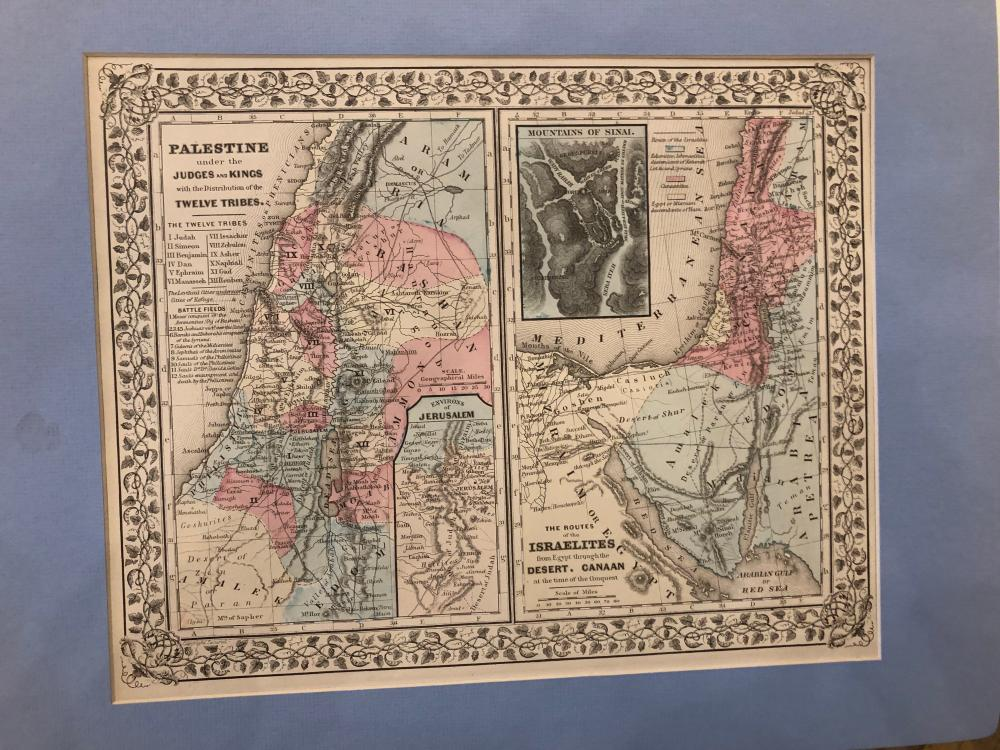 12 Tribes Palestine/ roman empire double sided map