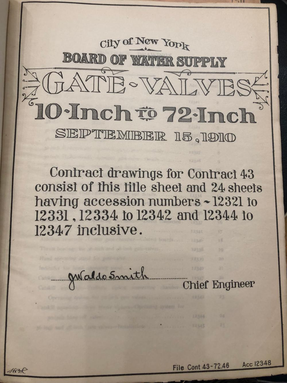 Board of Water Supply  1921  of