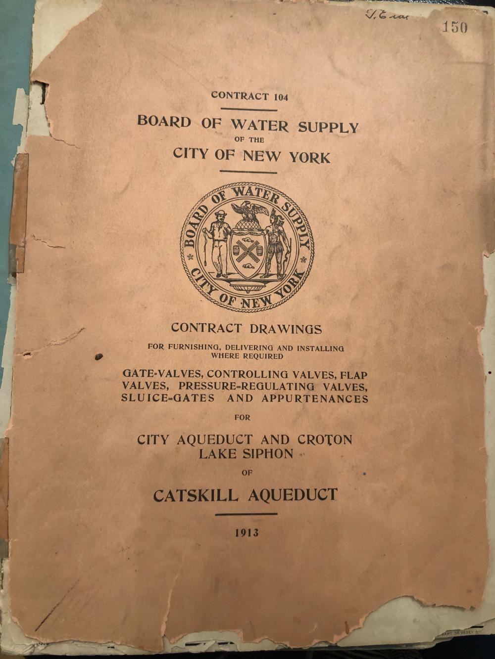 1913 catskill aqueduct contract drawings