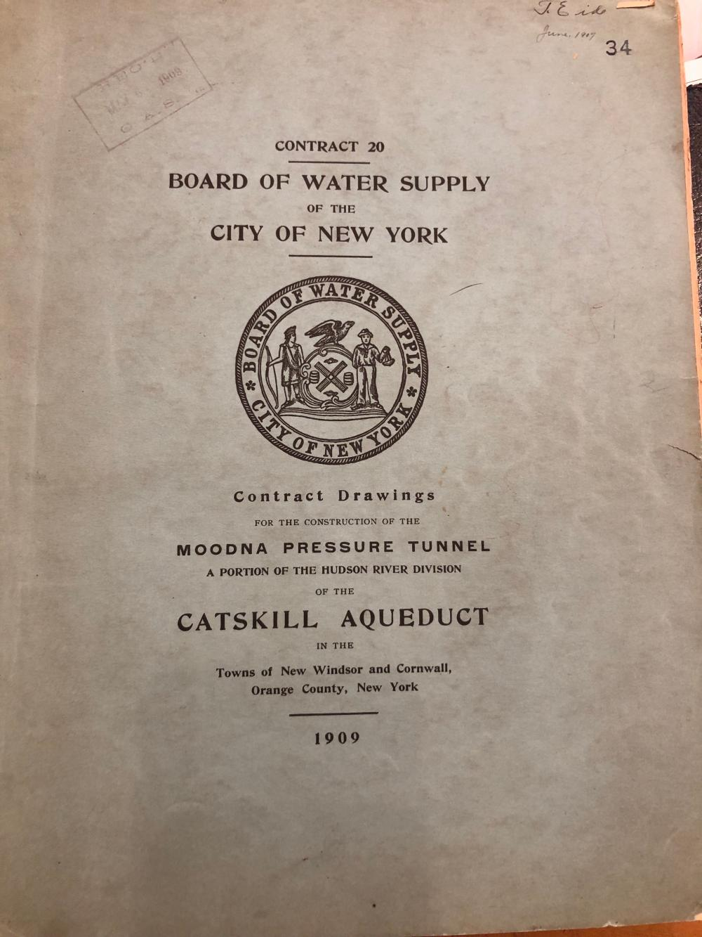 1909 Catskills aqueduct water supply