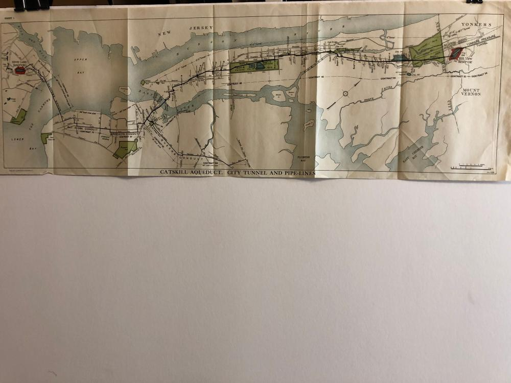 Catskills aqueduct city tunnel and pipe lines map