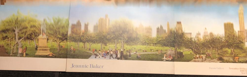 Jeannie Baker New York City Central Park triptych poster