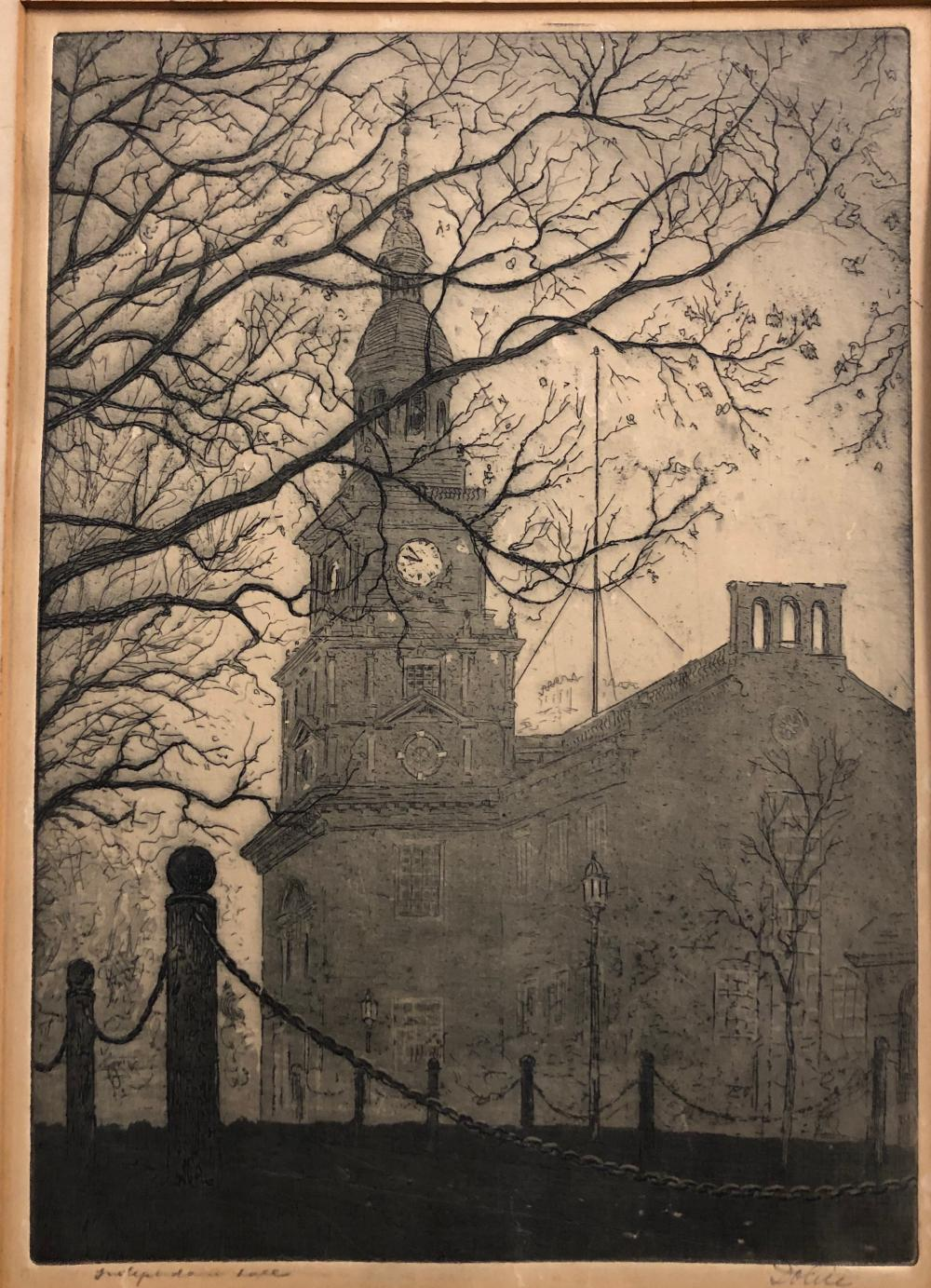 Dolice PHILADELPHIA Independence Hall etching
